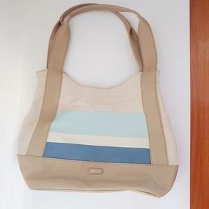 Relic tan & blue handbag